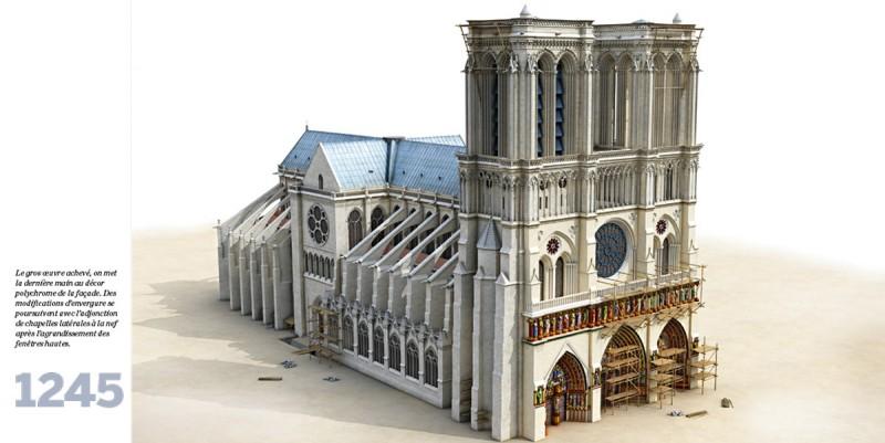 plan de la cathédrale de notre dame de paris